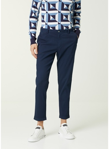 Dolce&Gabbana Dolce&Gabbana  Normal Bel Dar Paça Pantolon 101620141 Lacivert